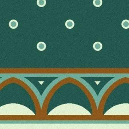 Yeşil Desenli Saflı Cami Halısı 11