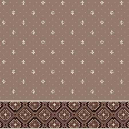 Dinarsu Kahverengi 2 Desenli Saflı Cami Halısı