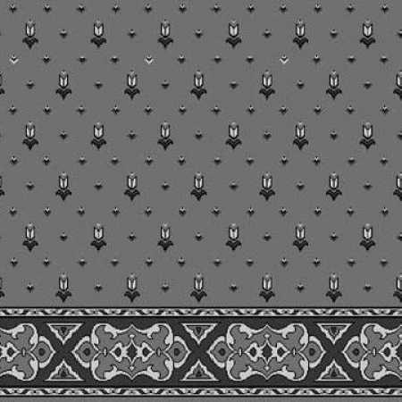 Siyah Gri Saflı Cami Halısı 018