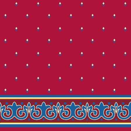 Çelebizade Erguvan Saflı Cami Halısı Kırmızı
