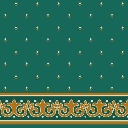 Çelebizade Erguvan Saflı Cami Halısı Yeşil