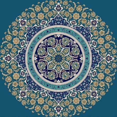Myfloor G119-Koyu Mavi Göbekli Cami Halısı