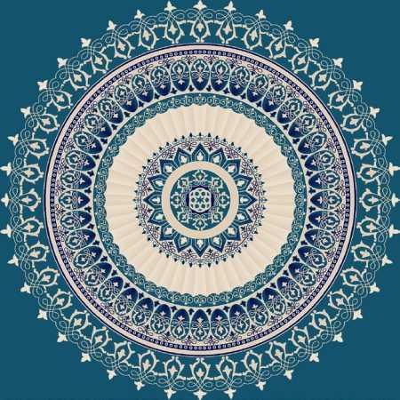Myfloor G108-Koyu Mavi Göbekli Cami Halısı
