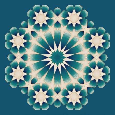 Myfloor G121-Koyu Mavi Göbekli Cami Halısı