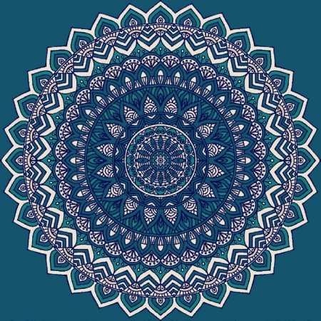 Myfloor G120-Koyu Mavi Göbekli Cami Halısı
