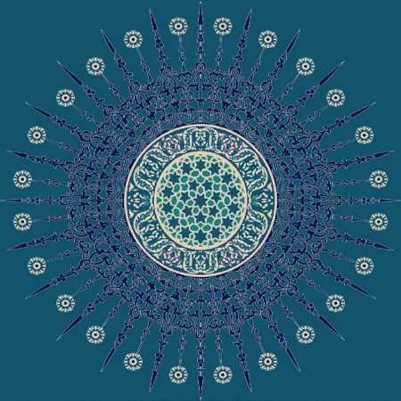 Myfloor G109-Koyu Mavi Göbekli Cami Halısı