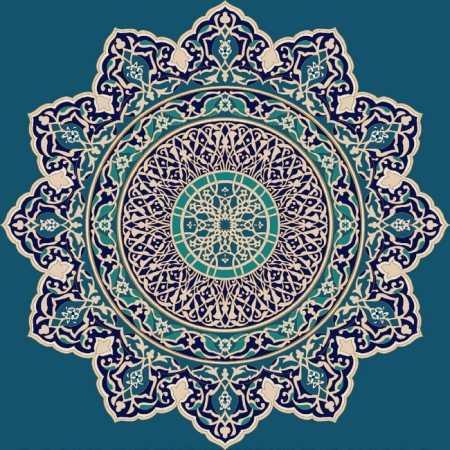 Myfloor G101-Koyu Mavi Göbekli Cami Halısı