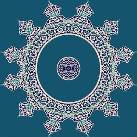 Myfloor G114-Koyu Mavi Göbekli Cami Halısı