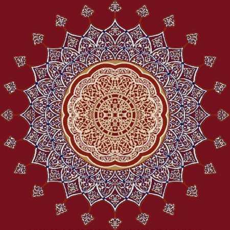 Göbekli Akrilik Cami Halısı G103BORDO