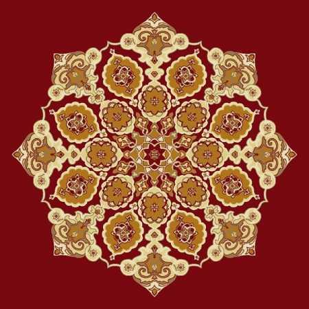Çelebizade Gül Göbekli Cami Halısı Kırmızı