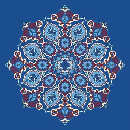 Çelebizade Gül Göbekli Cami Halısı Mavi