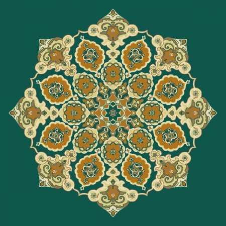 Çelebizade Gül Göbekli Cami Halısı Yeşil