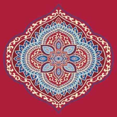 Çelebizade Sarmaşık Göbekli Cami Halısı Kırmızı