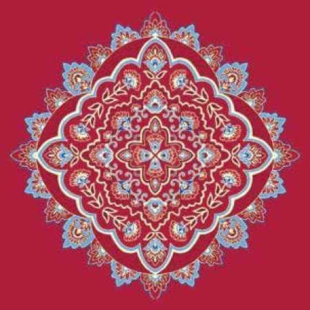 Çelebizade Susen Göbekli Cami Halısı Kırmızı