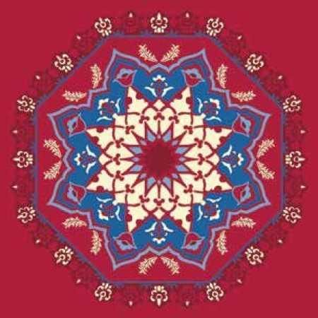 Çelebizade Sümbül Göbekli Cami Halısı Kırmızı