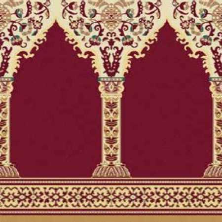 Çelebizade Buket Mihraplı Cami Halısı Kırmızı