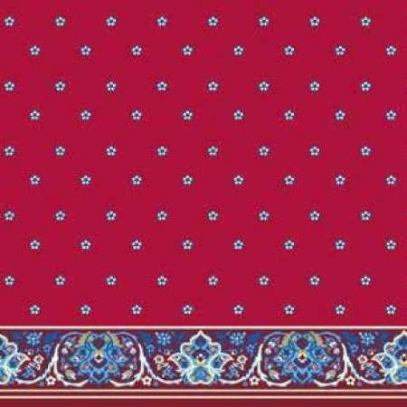 Çelebizade Buket Saflı Cami Halısı Kırmızı