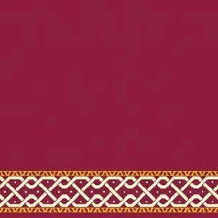 Çelebizade Defne Saflı Cami Halısı Kırmızı