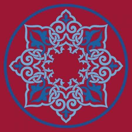 Çelebizade Kamelya Göbekli Cami Halısı Kırmızı