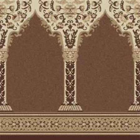 Çelebizade Buket Mihraplı Cami Halısı Koyu Bej