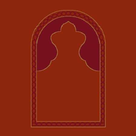 Mihraplı Akrilik Cami Halısı M101KIREMIT