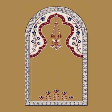 Mihraplı Akrilik Cami Halısı M102HARDAL