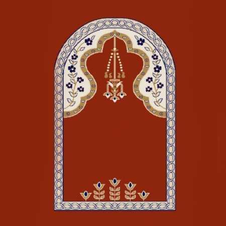 Mihraplı Akrilik Cami Halısı M102KIREMIT