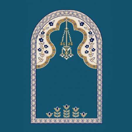 Mihraplı Akrilik Cami Halısı M102KOYUMAVI