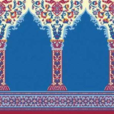 Çelebizade Buket Mihraplı Cami Halısı Mavi