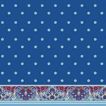 Çelebizade Buket Saflı Cami Halısı Mavi