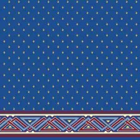 Çelebizade Çağla Saflı Cami Halısı Mavi