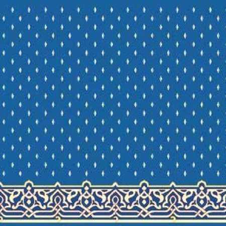 Çelebizade Fulyan Saflı Cami Halısı Mavi