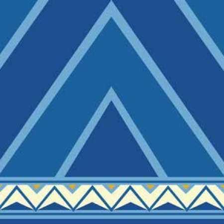 Çelebizade Nergis Saflı Cami Halısı Mavi