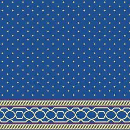 Çelebizade Nevra Saflı Cami Halısı Mavi