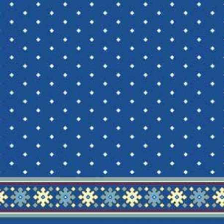 Çelebizade Sardunya Saflı Cami Halısı Mavi