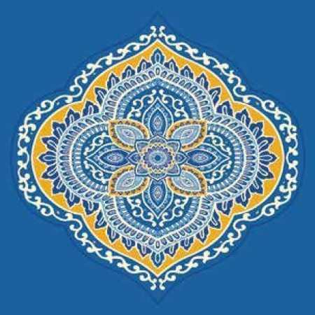 Çelebizade Sarmaşık Göbekli Cami Halısı Mavi