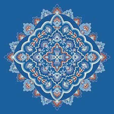 Çelebizade Susen Göbekli Cami Halısı Mavi