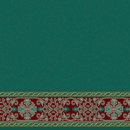Çelebizade Menekşe Saflı Cami Halısı Yeşil