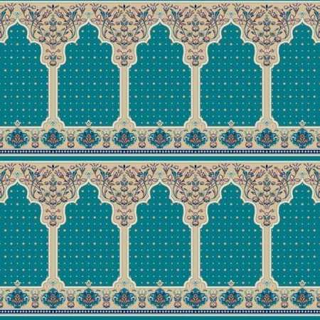 321 Mavi Seccadeli Mihraplı Akrilik Cami Halısı