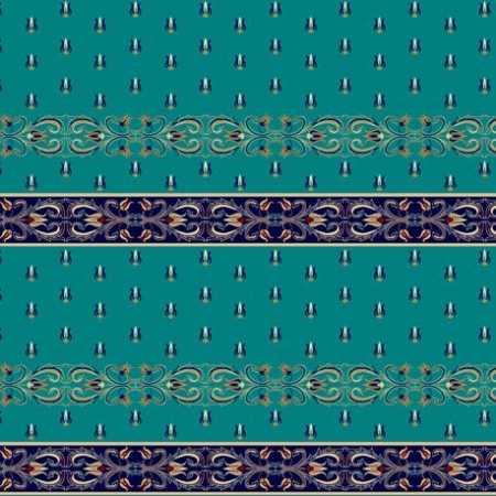 338 Mavi Saflı Akrilik Cami Halısı