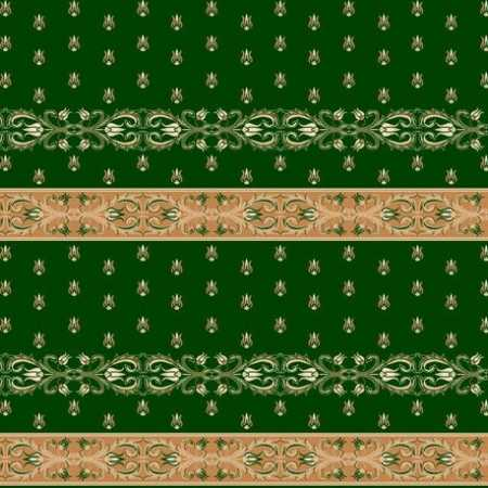 338 Yeşil Saflı Akrilik Cami Halısı