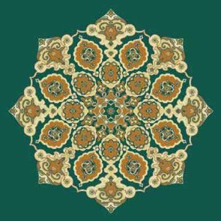 Çelebizade Gonca Göbekli Cami Halısı Yeşil