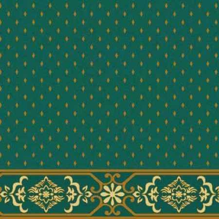 Çelebizade Molla Saflı Cami Halısı Yeşil