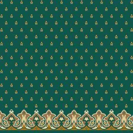 Çelebizade Pitan Saflı Cami Halısı Yeşil