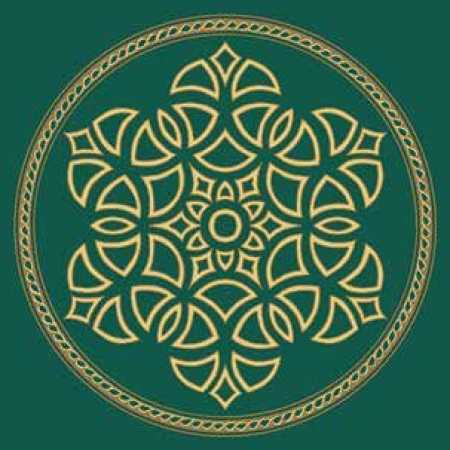 Çelebizade Salkım Göbekli Cami Halısı Yeşil