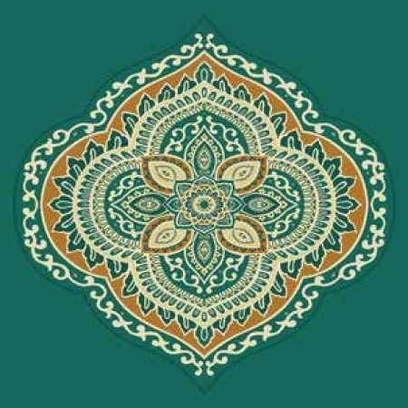 Çelebizade Sarmaşık Göbekli Cami Halısı Yeşil