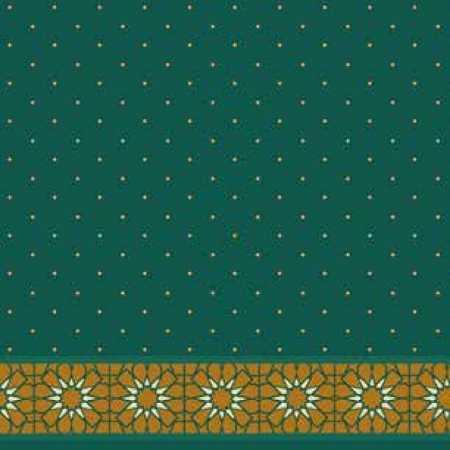 Çelebizade Anema Saflı Cami Halısı Yeşil