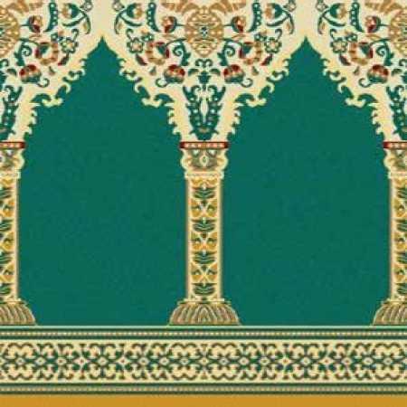 Çelebizade Buket Mihraplı Cami Halısı Yeşil