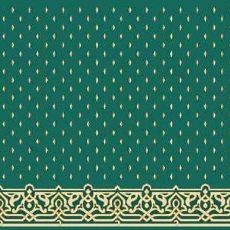 Çelebizade Fulyan Saflı Cami Halısı Yeşil