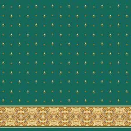 Çelebizade Gelincik Saflı Cami Halısı Yeşil